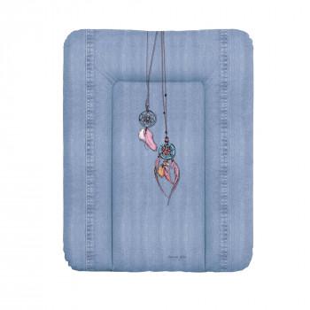 Пеленальный матрас Cebababy 50x70 Denim Style W-143-119-598, Dream Catcher, голубой