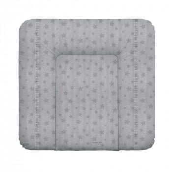 Пеленальный матрас Cebababy 85x72 Denim Style W-144-119-588, Stars grey, серый