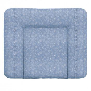 Пеленальный матрас Cebababy 85x72 Denim Style W-144-119-592, Boho blue, голубой