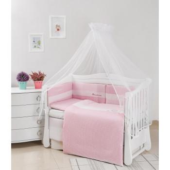 Постельный комплект 6 эл Twins Evo Облака 4073-A-033, pink, розовый