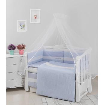 Постельный комплект 6 эл Twins Evo Облака 4073-A-034, blue, голубой