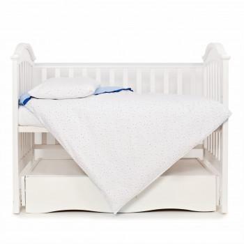 Сменная постель 3 эл Twins Premium Starlet 3028-P-024, Starlet blue, серый / синий