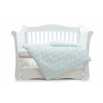 Сменная постель 3 эл Twins Premium Птички 3029-P-032, Птички мята, мятный