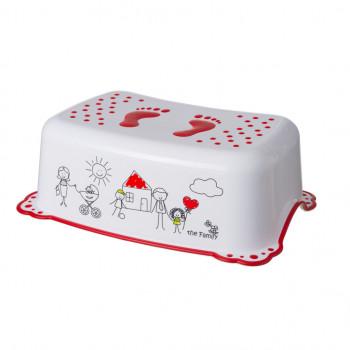Подножка Maltex Family 2K 5948 white / red, белый / красный