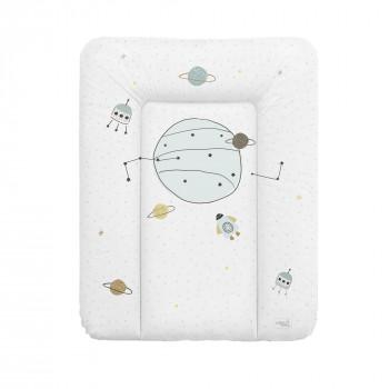 Пеленальный матрас Cebababy 50x70 Candy Andy W-143-121-621, Cosmo 2, белый / серый