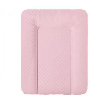 Пеленальный матрас Cebababy 50x70 Caro Premium line W-143-079-129, pink nude, розовый дым