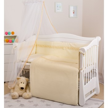 Постельный комплект 7 эл Twins Magic sleep Classic 4072-M-008, beige, бежевый