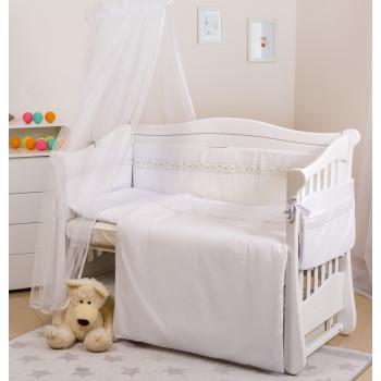 Постельный комплект 7 эл Twins Magic sleep Classic 4072-M-009, white, белый