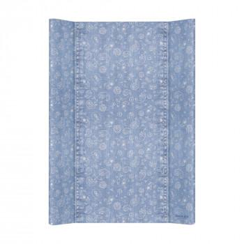 Пеленальная доска Cebababy 50x70 Denim Style W-200-119-592, Boho blue, голубой