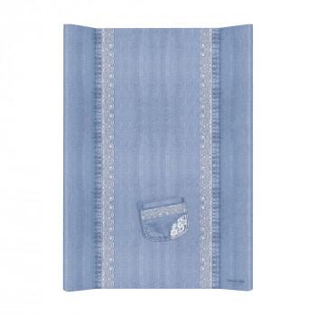 Пеленальная доска Cebababy 50x70 Denim Style W-200-119-600, Lace, голубой