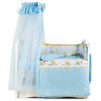 Постельный комплект 7 эл Twins Comfort New 4051-C-111, Медун голубые, голубой