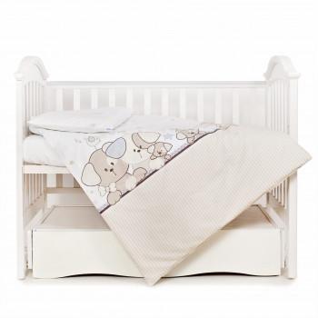 Сменная постель 3 эл Twins Eco Line 3090-E-014, Cute Dog, коричневый