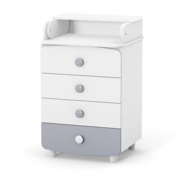 Комод-пеленатор Верес 600 Слим 32.4.1.2.17, бело / серый, белый / серый