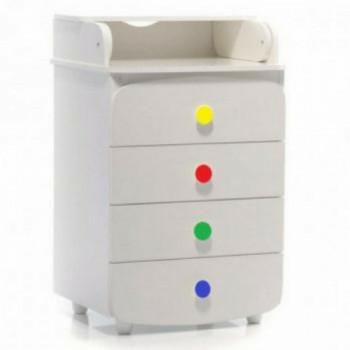 Комод-пеленатор Верес 600 Слим белый / радуга, белый